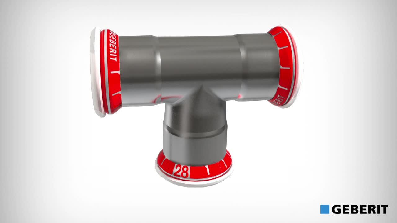 Instalação de Geberit Mapress Aço carbono com tubo galvanizado
