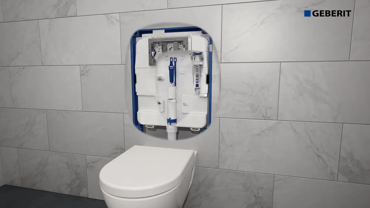 Installation video for the service of Geberit inlet and outlet valve