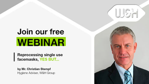 WEBINAR Invitationvideo by Christian Stempf: Reprocessing single use facemasks, YES but…