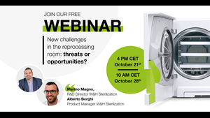 WEBINAR Invitationvideo by Marino Magno and Alberto Borghi: New challenges in the reprocessing room: threats or opportunities?