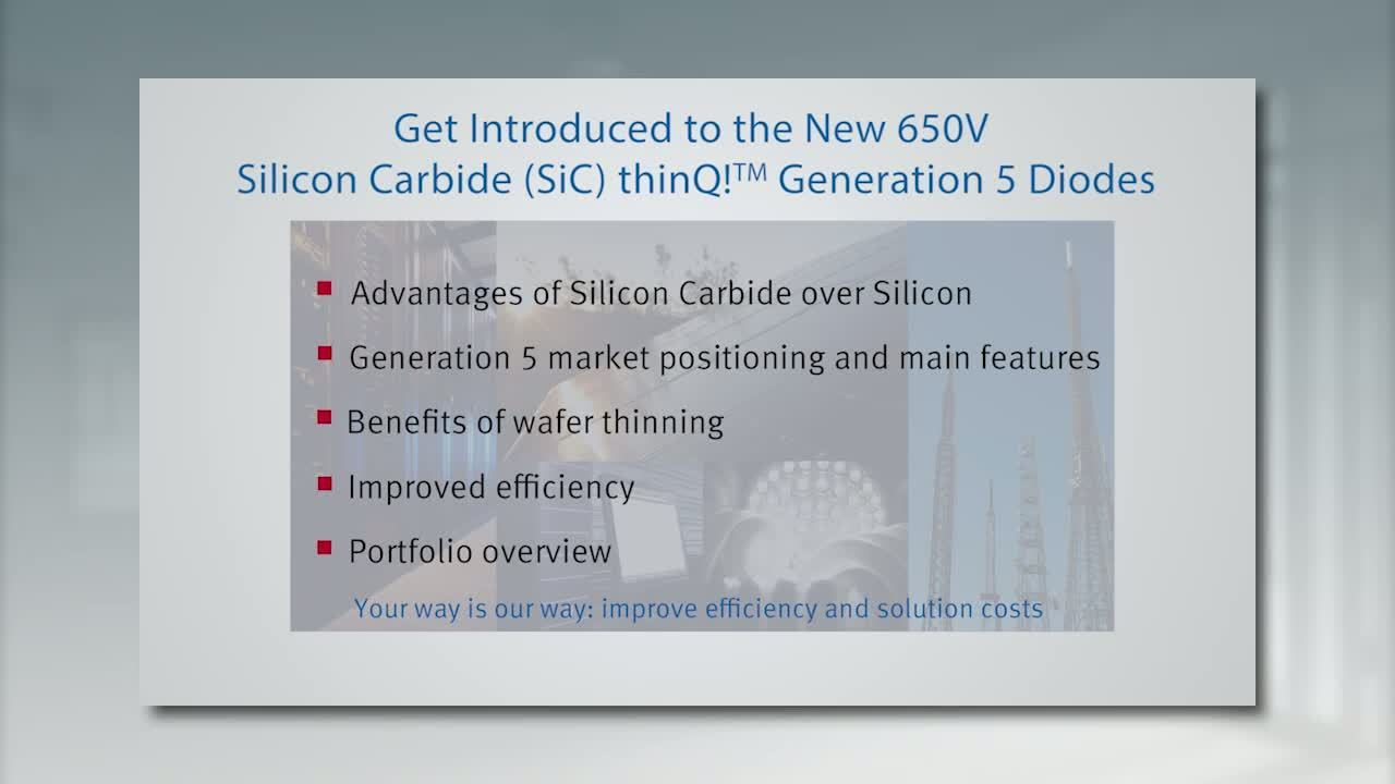 650V SiC thinQ™ Generation 5 Diodes - Advantages of Silicon Carbide and Market Positioning