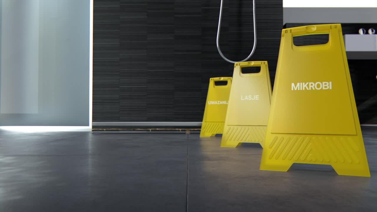 Brez možnosti za umazanijo: pršna kanaleta Geberit iz serije CleanLine