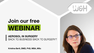 """Webinar Invitation Video by Kristina Bertl: """"Aerosol in Surgery. Back to Business! Back to Surgery?"""""""