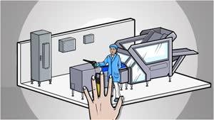 Hygienický design Kompaktní rozváděčová skříň HD, jednodvéřová