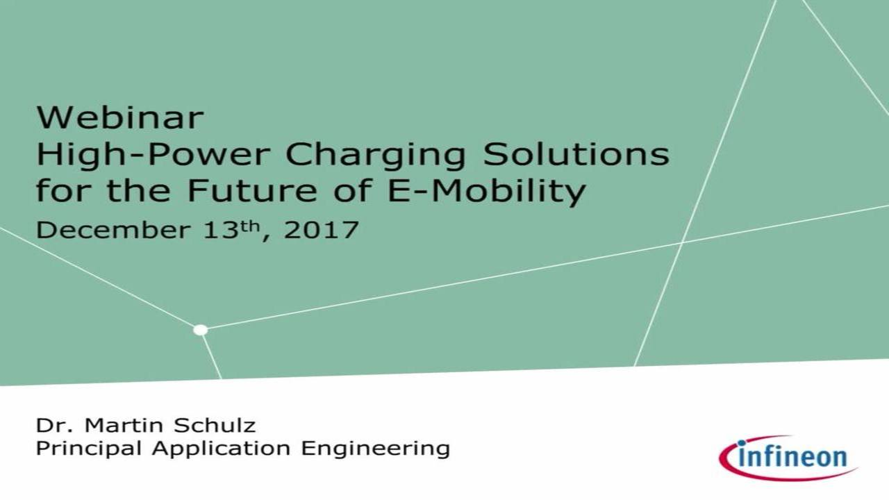 High-power charging solutions for the future of e-mobility