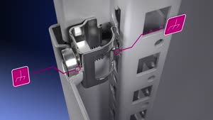 Baying enclosure system VX25 Basic enclosure with glazed door