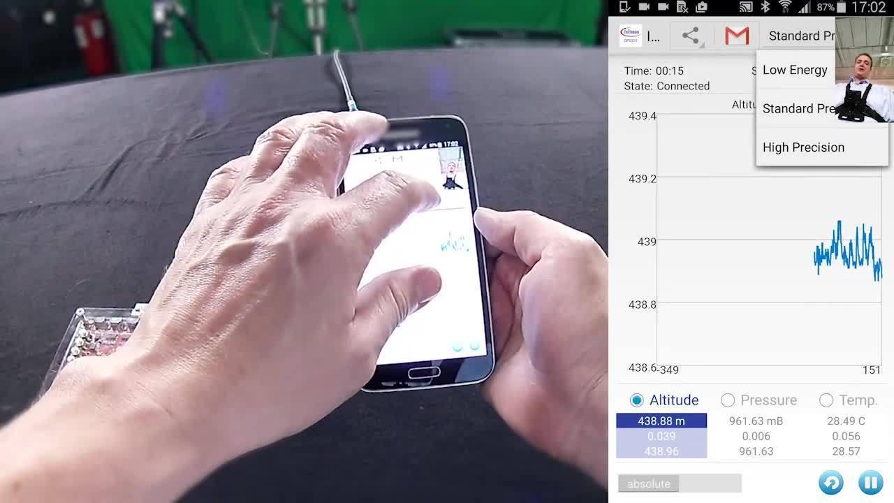 Expand your senses with Infineon´s pressure sensor  - Demo 2