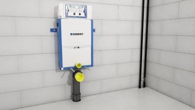 Instalación del bastidor de montaje Geberit Kombifix para inodoro