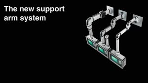 Tilting adaptor +100°/–60° for support arm connection 120 x 65 mm