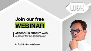 WEBINAR Invitationvideo by Prof. Dr. Gaßmann: Aerosol in Prophylaxis – A danger for the practice team?