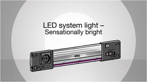 IT LED system light for IT rack systems and IT racks