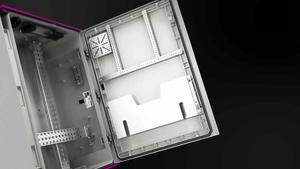 Kunststoff-Schaltschränke AX mit Sichtscheibe