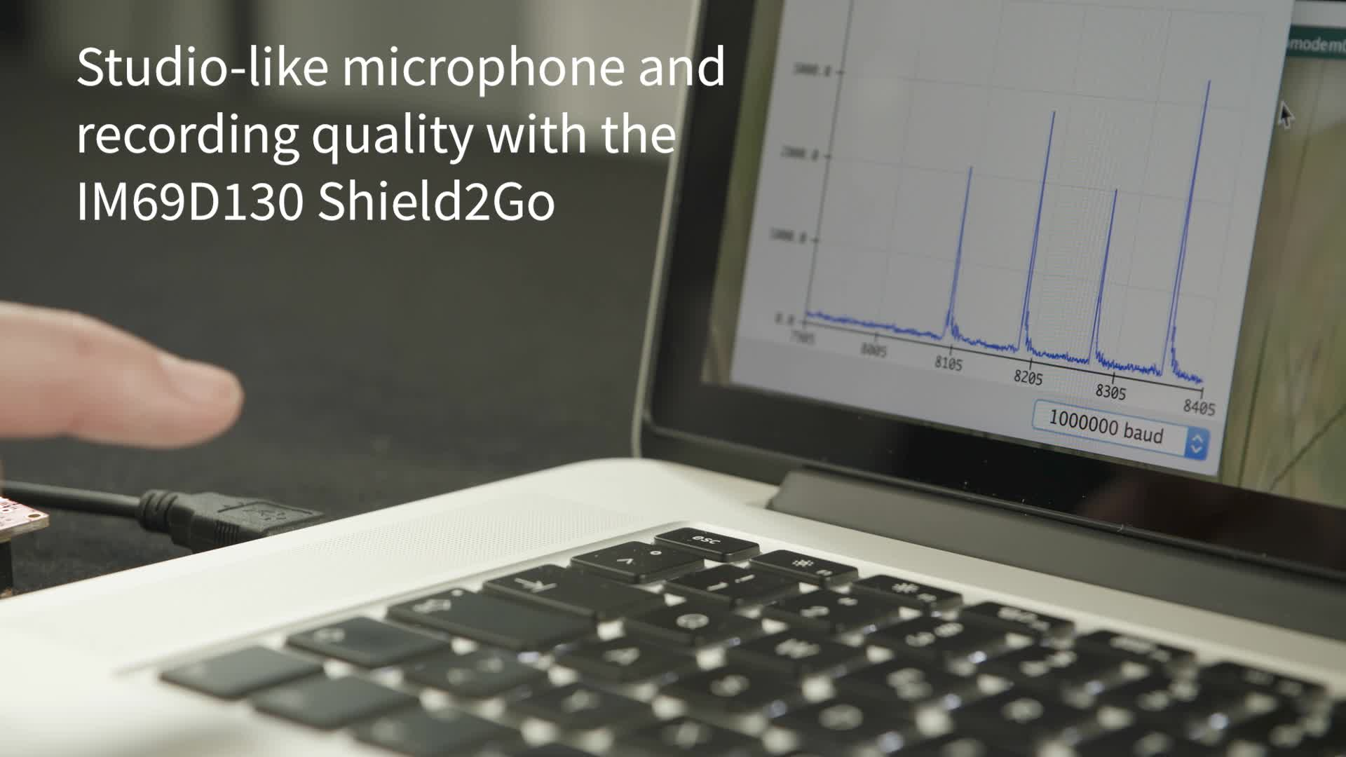 XENSIV™ IM69D130 microphone Shield2Go - Get studio recording quality within a few minutes.