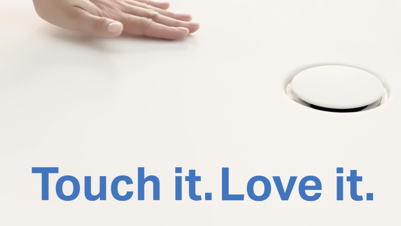 Touch it. Love it. Geberit dušas virsma Setaplano