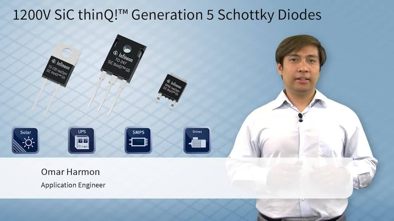 1200V SiC thinQ!™ Generation 5 Schottky Diode - Key Features - Reduction of Forward Voltage