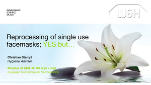 """Revisit the Webinar: """"Reprocessing single use facemasks, YES but…"""""""