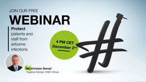 WEBINAR Invitation video by Christian Stempf: Protect patients and staff from airborne infections