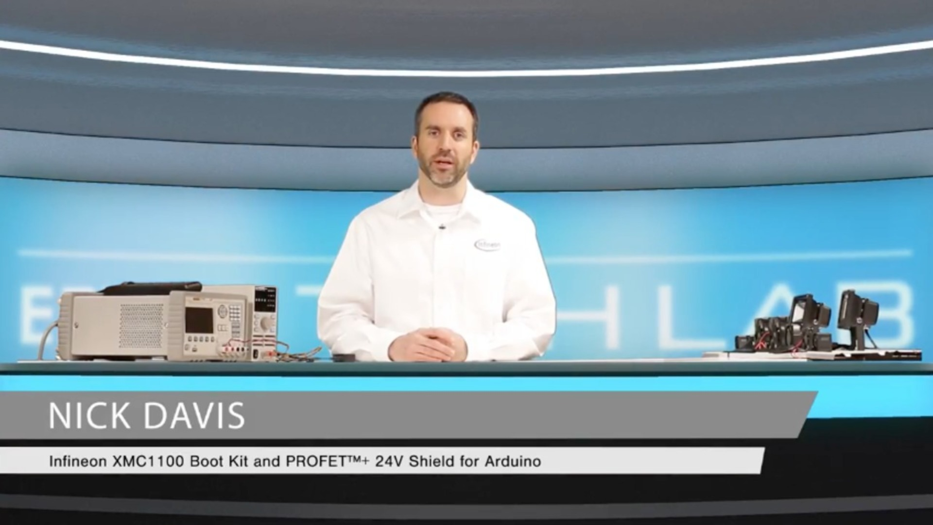Watch to learn more: Infineon XMC1100 Boot Kit and PROFET™+ 24V Shield for Arduino – Part 1