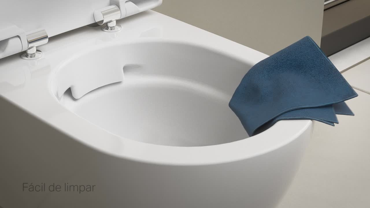 Sanitas Geberit Rimfree, limpeza fácil