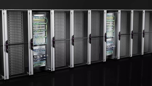 Network/server rack VX IT with glazed door, pre-configured, with 482.6 mm (19