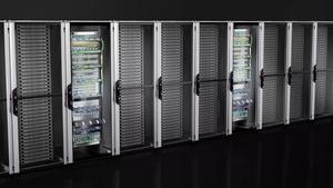 Network/server rack VX IT with glazed door, pre-configured, with 482.6 mm (19