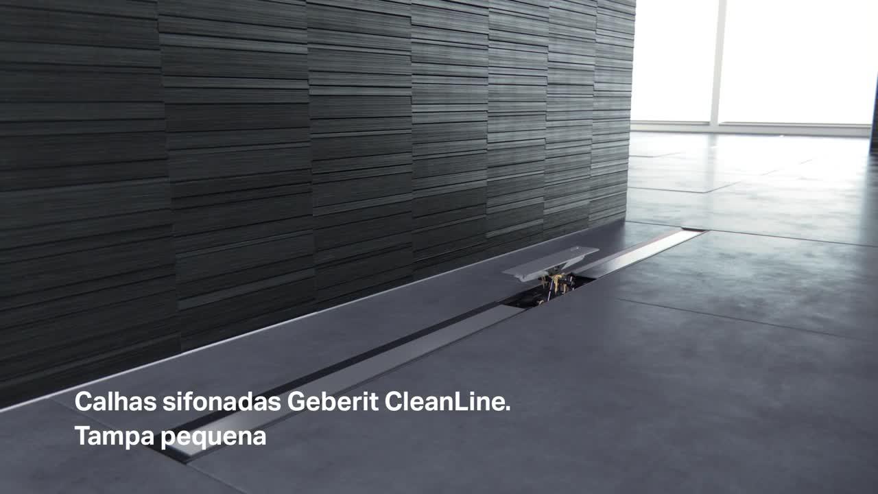 Calhas Geberit CleanLine para duches de pavimento, melhor em limpeza