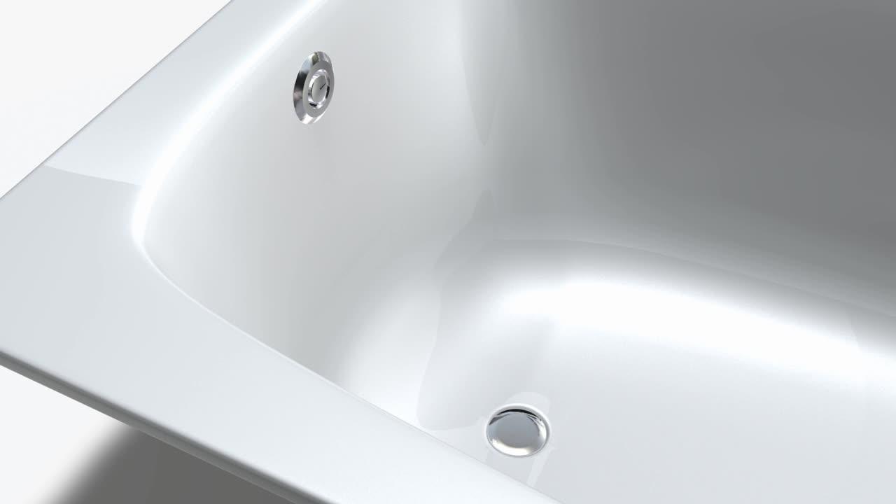 吉博力浴缸落水的安裝
