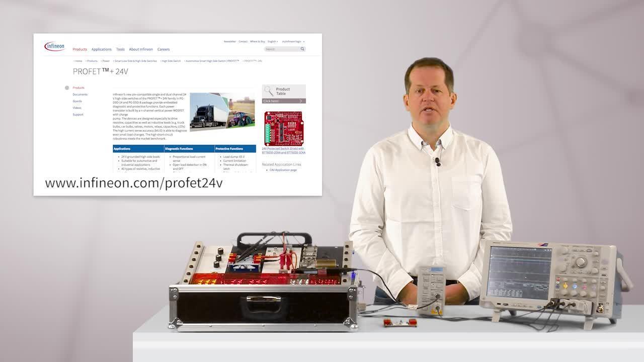 PROFET™+24V BTF6070-2EKV アプリケーションデモ