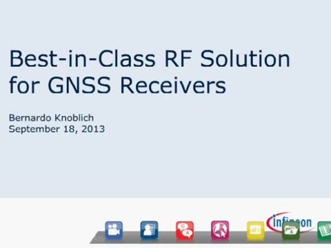 Best-In-Class RF Solutions for GNSS Receivers