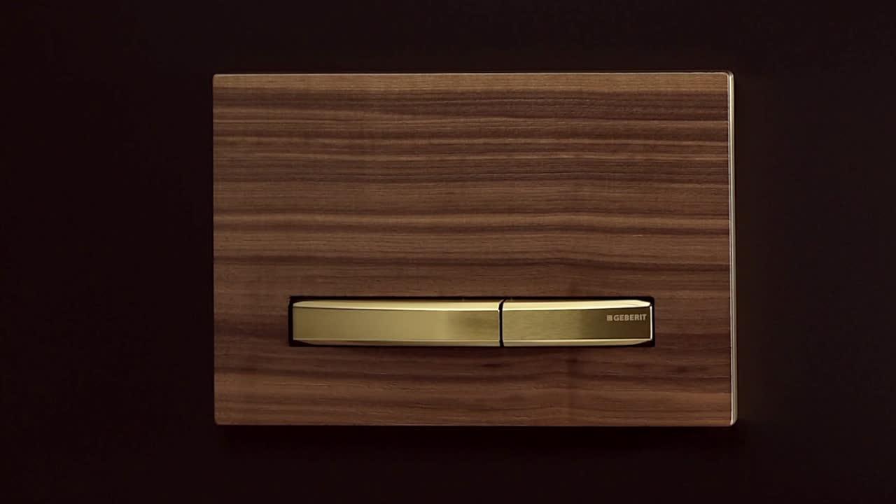 Placas de descarga Geberit, design meets function