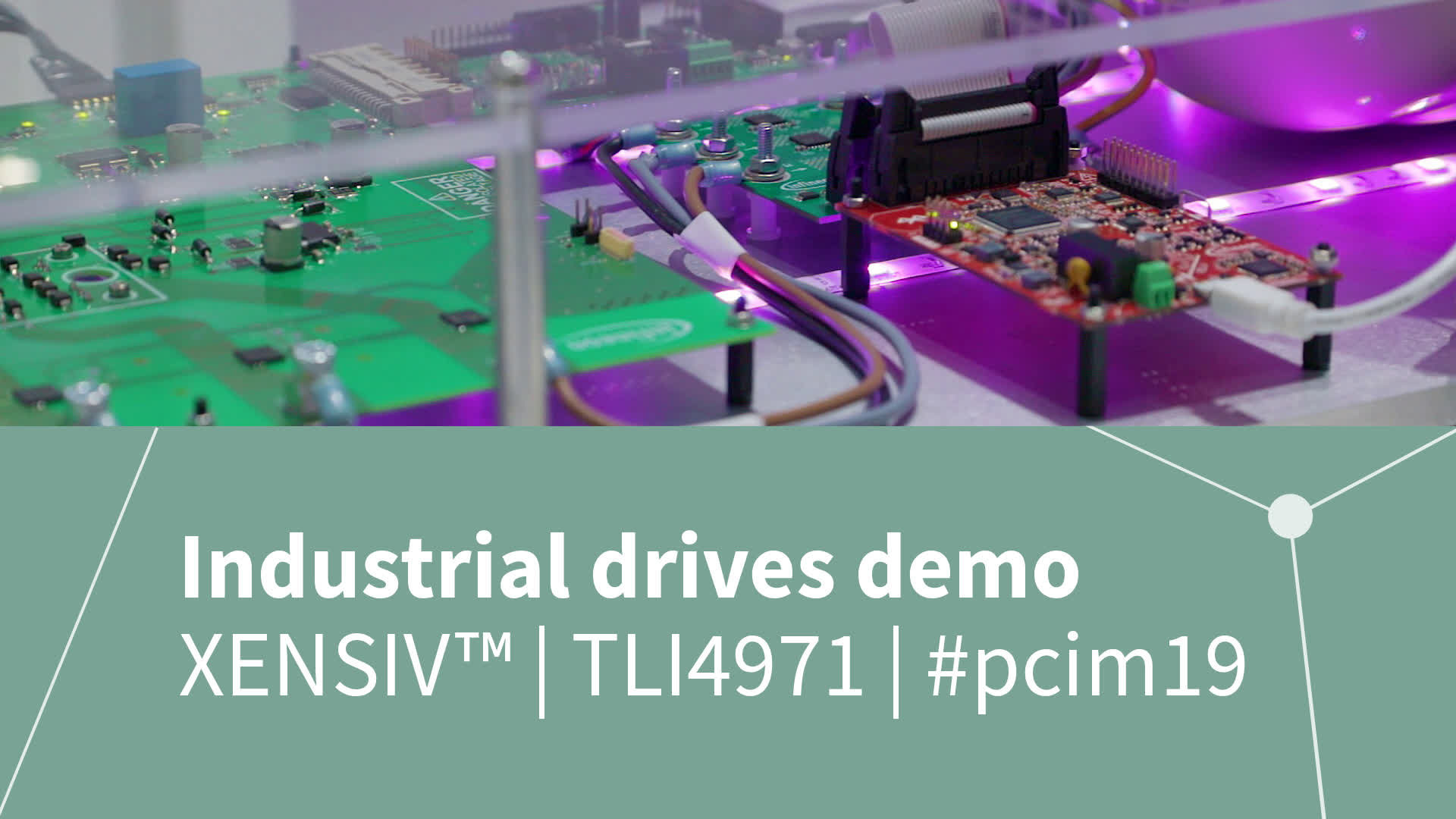 Industrial drives demonstrator using XENSIV™ magnetic current sensor TLI4971 from Infineon