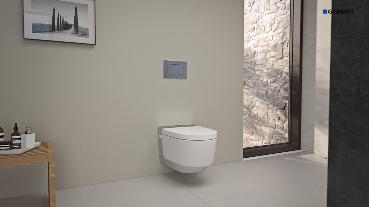Installation de bâti-support pour WC suspendu Geberit Duofix pour paroi en applique