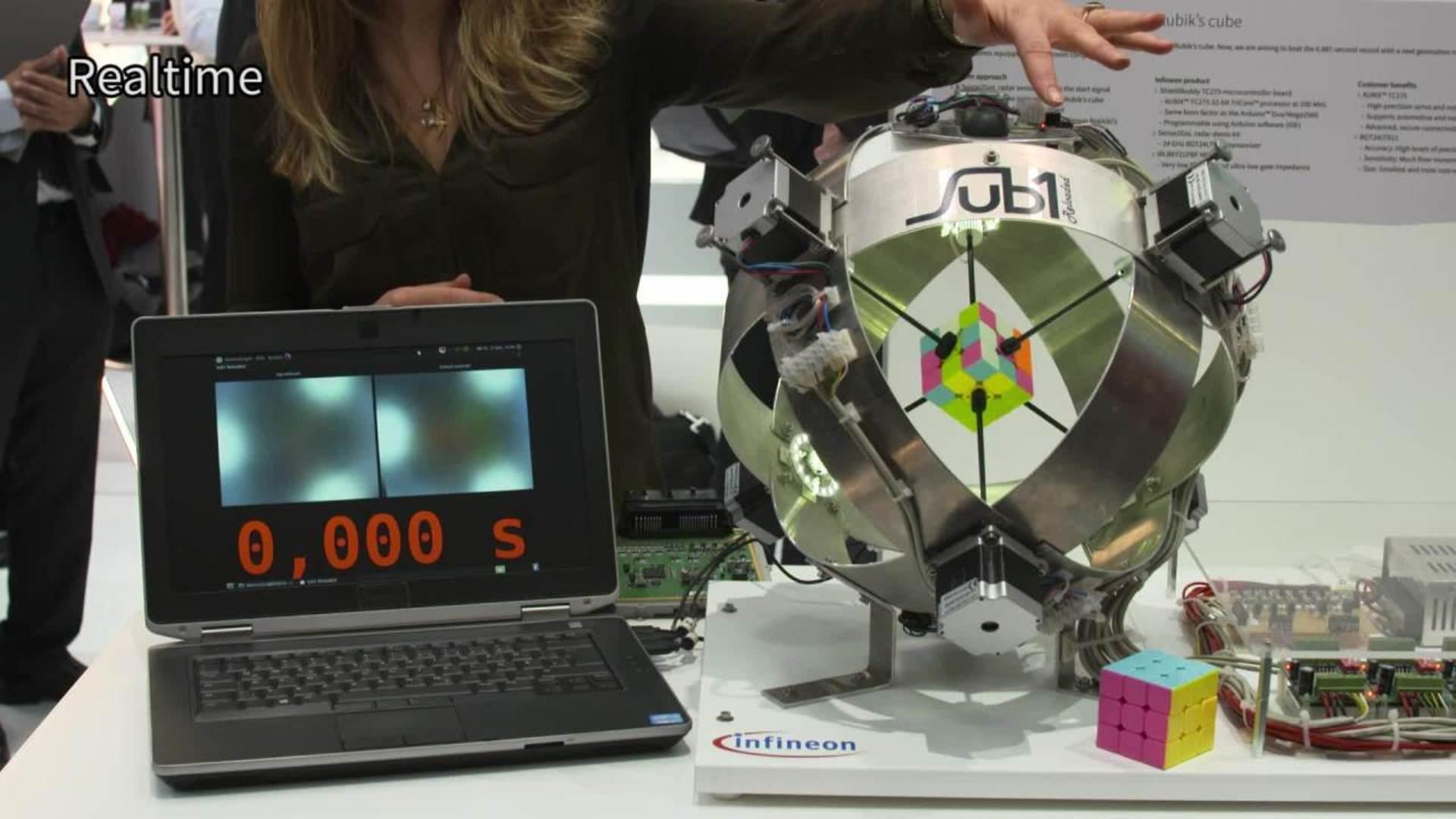 Rubik's Cube machine world record