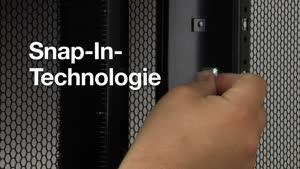Netzwerk-/Serverschrank TS IT mit belüfteter Tür, mit 19