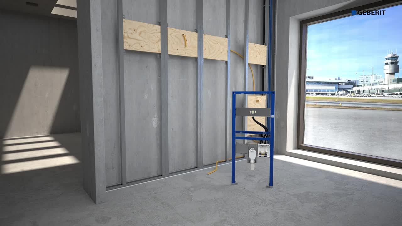 Geberit tap system installation
