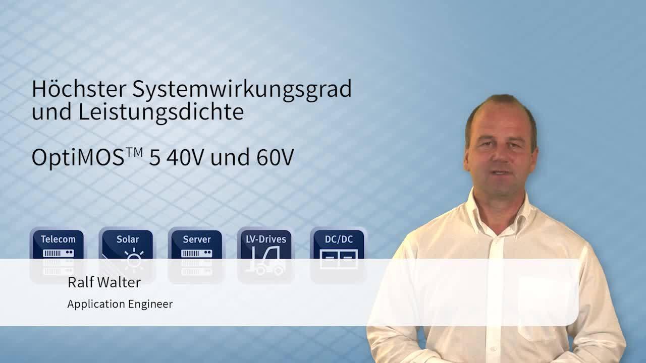 OptiMOS™ 5 40V/60V – höchste Leistungsdichte und Systemwirkungsgrad