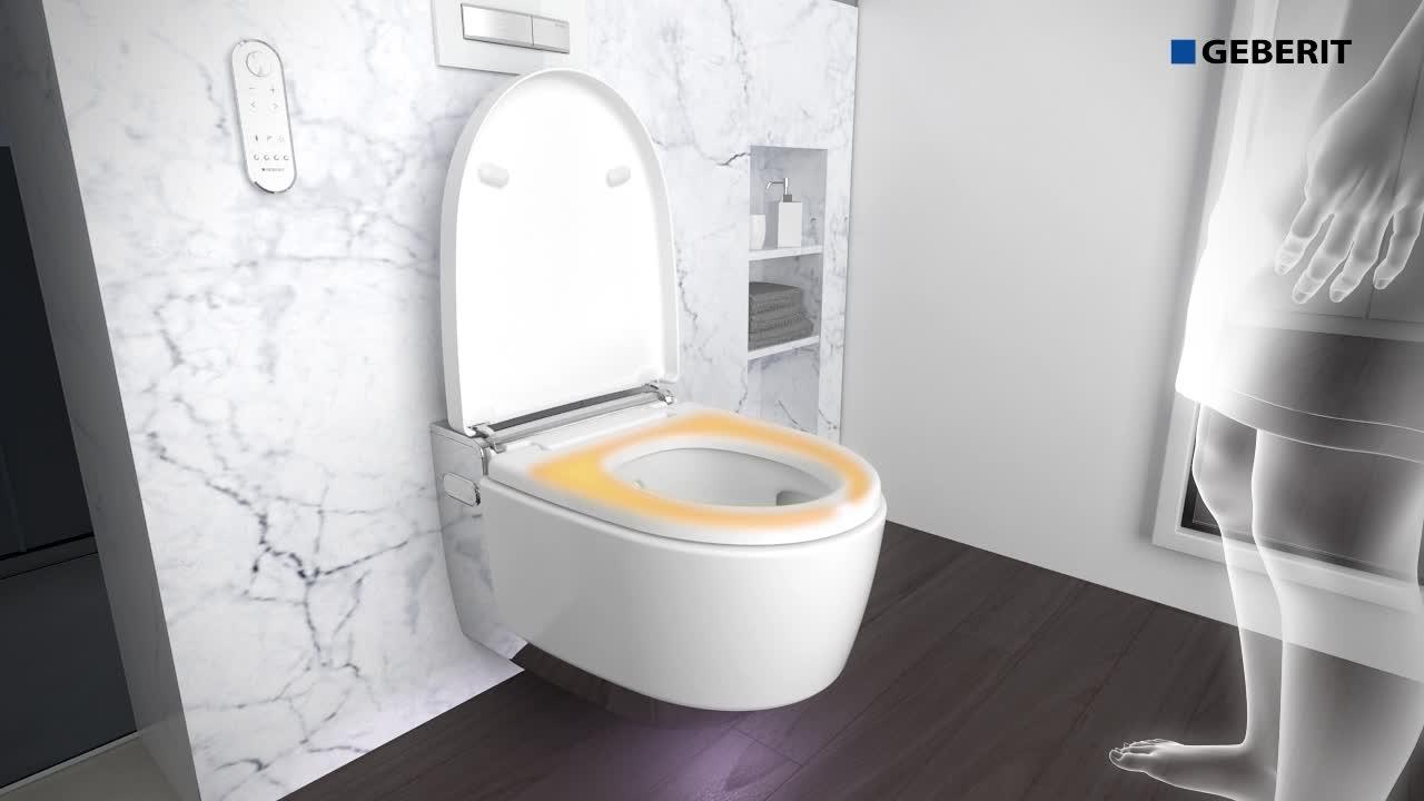 Fonctionnement du WC Geberit AquaClean Mera