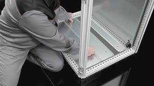 Kabelabfangschiene Winkelprofil für TS, SE, PC, TP Universalpult, TS Sockel, Flex-Block